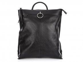 Stylový dámský kožený batoh Jennifer Jones 3132 černý ModexaStyl (3)
