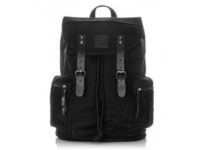 velký vintage batoh nejen na notebook Harolds 4554 černý (1)