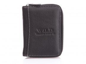 Malá pánská kožená peněženka Wild 5511 černá (2)
