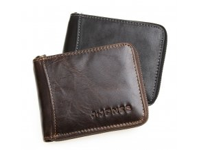 Pánská kožená peněženka na zip 5532 hnědá J JONES (4)