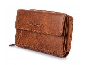 Dámská kožená peněženka hnědá Harolds 5626