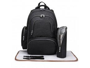 Mateřský přebalovací batoh na kočárek Miss Lulu E6706 černý (1)