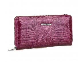 Dámská velká kožená peněženka na zip 5247 2 fialová Jennifer Jones (2)