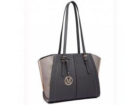 Elegantní kabelka přes rameno šedá Miss Lulu LT6614 GY (3)