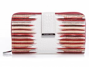 Dámská kožená peněženka červeno bílá Jennifer Jones 5280 (2)
