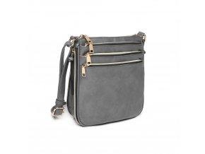 Crossbody kabelka přes rameno LB1939 GY Miss Lulu šedá (3)