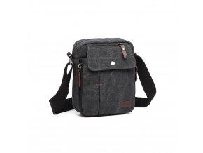 Malá pánská taška přes rameno černá KONO E1971 BK (3)