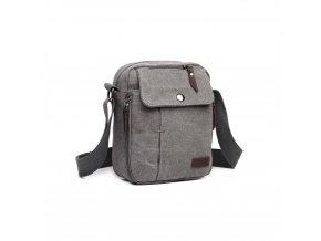 Malá pánská taška přes rameno šedá KONO E1971 GY (3)