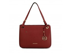 Elegantní kabelka přes rameno a do ruky Anna Grace AG00570 bordó vínová (2)