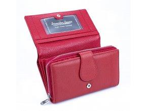 Dámská kožená peněženka Jennifer Jones 5275 RD červená ModexaStyl (1)
