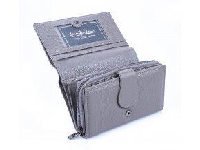 Dámská kožená peněženka Jennifer Jones 5275 šedá