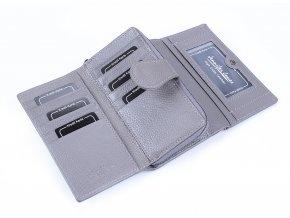 Dámská kožená peněženka Jennifer Jones 5275 šedá ModexaStyl (1)