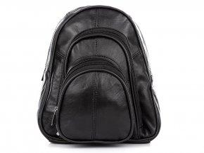 Dámský kožený batůžek černý Bag Street 6600 (5)