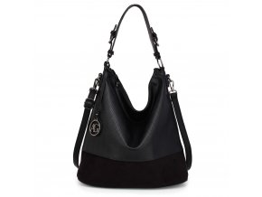 Hobo kabelka přes rameno Anna Grace černá AG00557 BK (3)
