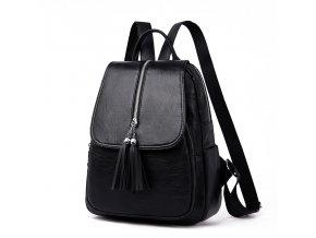 Dámský městský kožený batůžek batoh Gil Bags 2024 černý ModexaStyl (2)