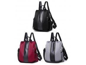 Dámský batůžek a kabelka 2v1 černý šedý vínový Gil Bags 2020 ModexaStyl (1)
