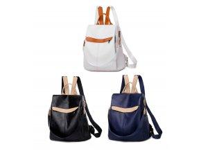 Dámský batůžek a kabelka 2v1 tři barvy černá modrá bílá Gil Bags 2022 ModexaStyl (17)