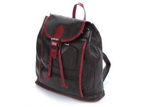 Dámský kožený batoh městský Abruzzo 5083 černý ModexaStyl (5)