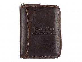 Pánská kožená peněženka na zip Wild hnědá 5508 ModexaStyl (2)