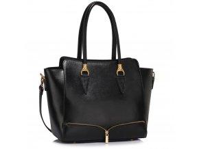 Elegantní kabelka do ruky a přes rameno LS00456 černá ModexaSty (2)