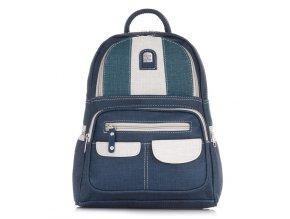 Malý dámský kožený batoh 15130 modrý ModexaStyl Charm Schape (1)