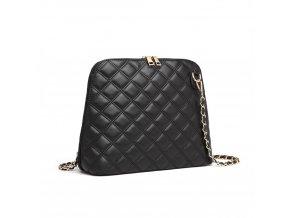 Elegantní prošívaná crossbody kabelka přes rameno Miss Lulu 6920 černá ModexaStyl (3)