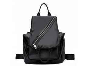 Dámský batůžek a kabelka přes rameno 2v1 Gil bags 2045 černý stříbrný ModexaStyl (2)