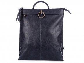 Stylový dámský kožený batoh Jennifer Jones 3132 modrý ModexaStyl (3)