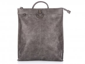 Stylový dámský kožený batoh 3132 šedý