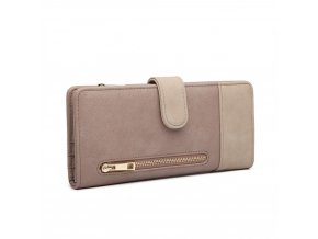 Velká dámská peněženka a pouzdro na karty Miss Lulu LN6883 šedá ModexaStyl (4)