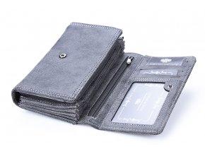 Prostorná dámská peněženka hnědá Jennifer Jones 11024 ModexaStyl 11