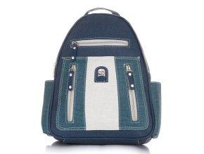 Dámský kožený batoh modrý Charm & Shape 15118 ModexaStyl (1)