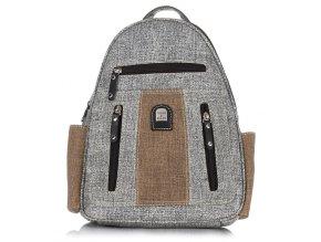 Dámský kožený batoh šedý Charm & Shape 15118 ModexaStyl (1)