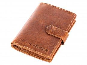 Pánská kožená peněženka J JONES 5327 hnědá ModexaStyl (5)