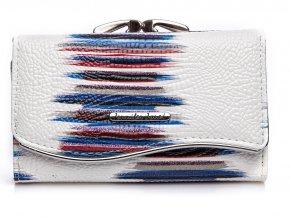 Dámská kožená peněženka Jennifer Jones 5245 bílo modrá (2)