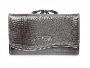 Dámská kožená peněženka šedá lakovaná na klip Jennifer Jones 5245 Modexa (2)
