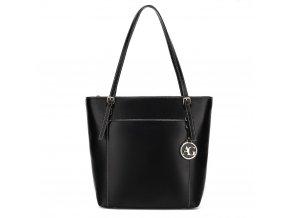 Středně velká kabelka přes rameno Anna Grace AG00770 BK černá Modexa (2)