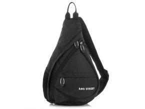Lehký sportovní batůžek přes jedno rameno Bag Street 4388 černý ModexaStyl (1)