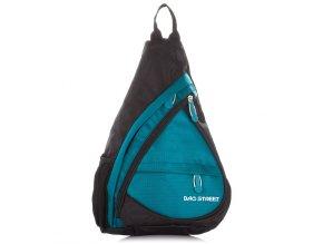 Lehký sportovní batůžek přes jedno rameno Bag Street 4388 tyrkysový ModexaStyl (1)
