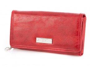 Elegantní dámská kožená peněženka Jennifer Jones 1108 7 červená ModexaStyl (2)