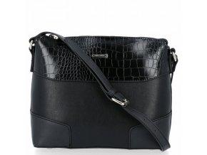 Elegantní crossbody kabelka přes rameno David Jones 6439 1 černá ModexaStyl (3)