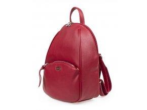 Malý dámský kožený batůžek David Jones CM5604 červený ModexaStyl (3)