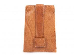 Zatahovací klíčenka z přírodní kůže Bag Street 580 hnědá ModexaStyl (3)