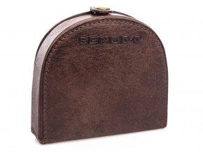 Kožená peněženka pouzdro na mince J Jones 5684 hnědá ModexaStyl (2)