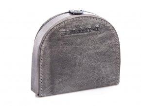 Kožená peněženka pouzdro na mince J Jones 5684 šedá ModexaStyl (2)