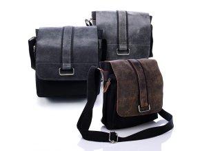 Pánská taška přes rameno Paolo Peruzzi 005 černá_šedá_hnědá ModexaStyl