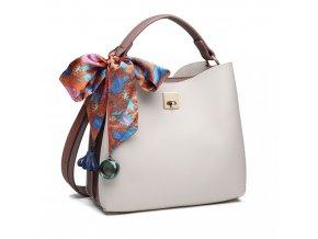 Elegantní malá kabelka do ruky a přes rameno Miss Lulu E1813 šedá