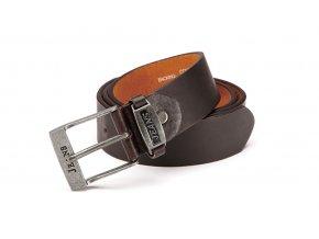 Pánský kožený opasek Jeans - hnědý 10076A-2
