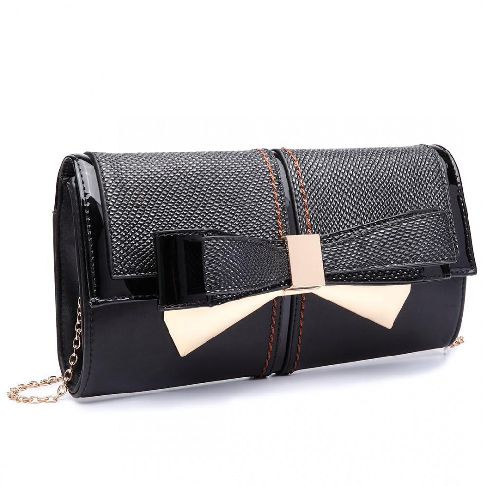 Elegantní večerní kabelka psaníčko LT6604 - černá