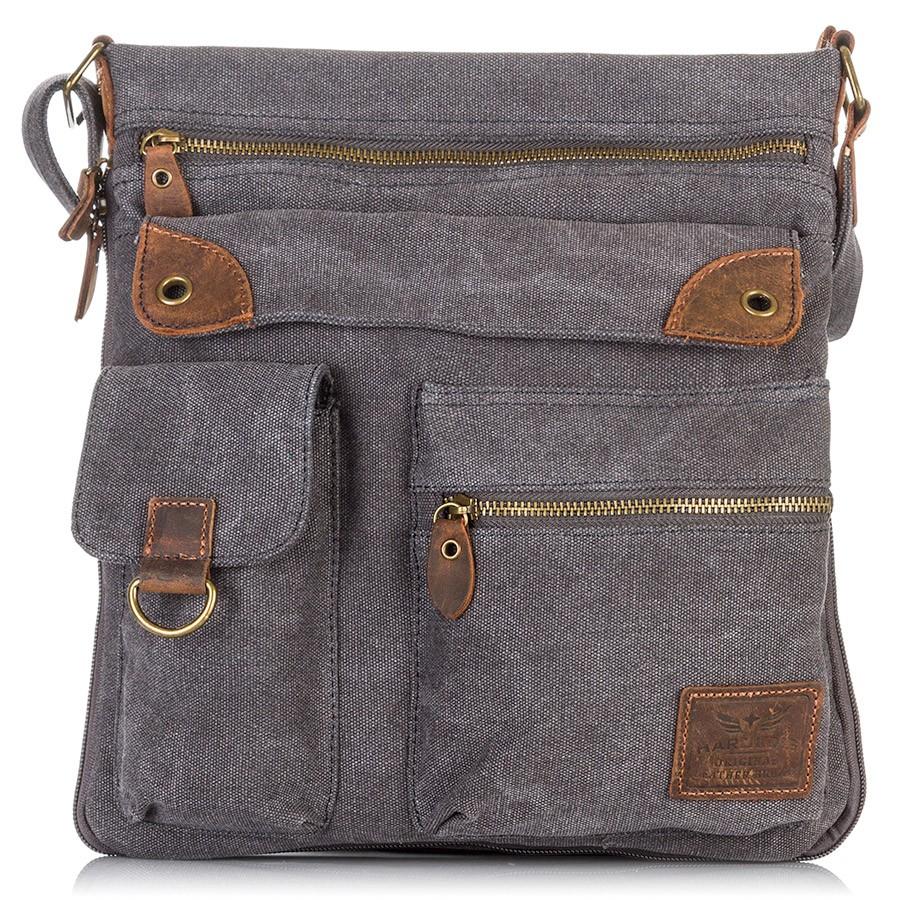 Pánská taška přes rameno - šedá